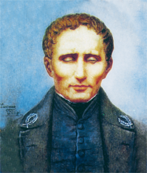 Painting of Louis Braille click for bio