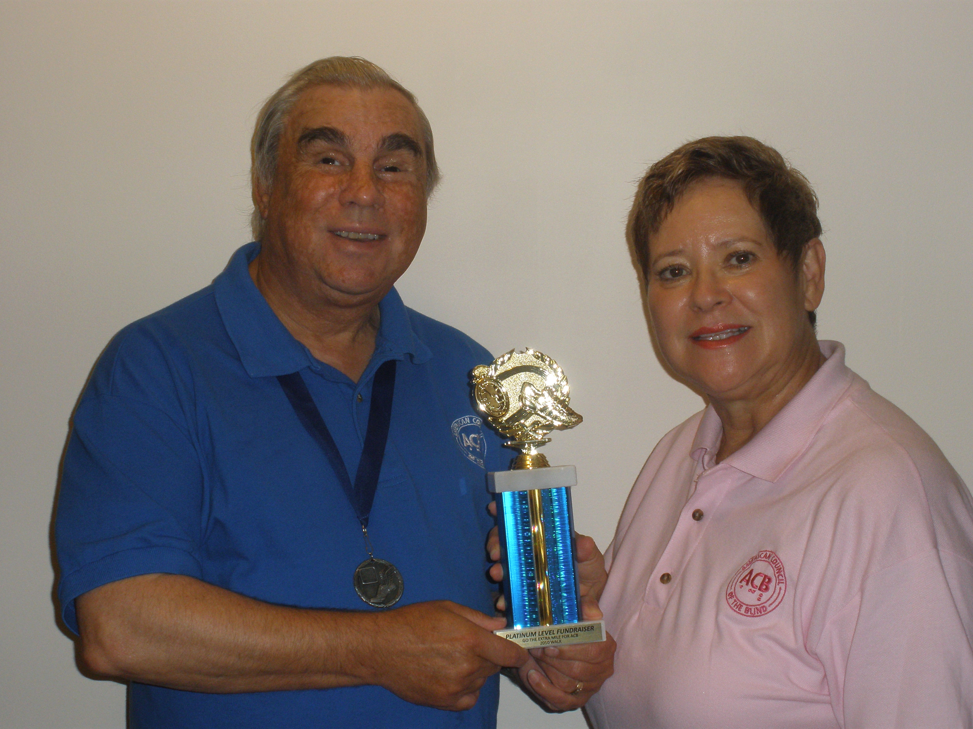 Ron and Palma Milliman with ACB Walk Trophy